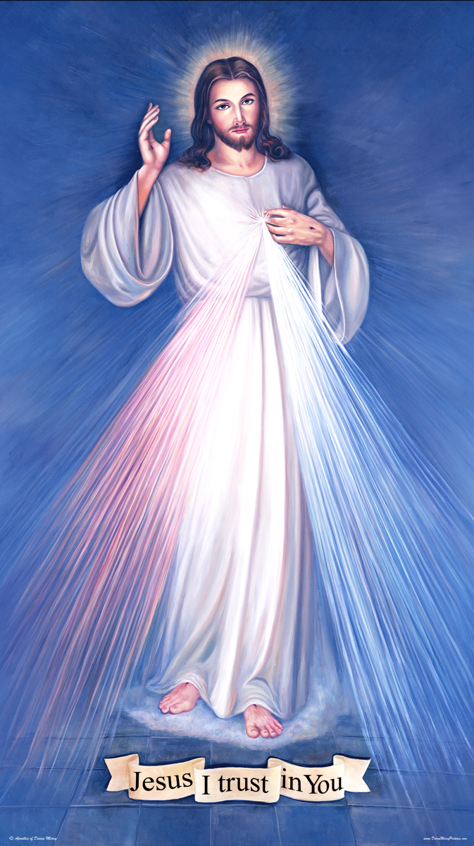 A high quality Cathedral Divine Mercy picture.