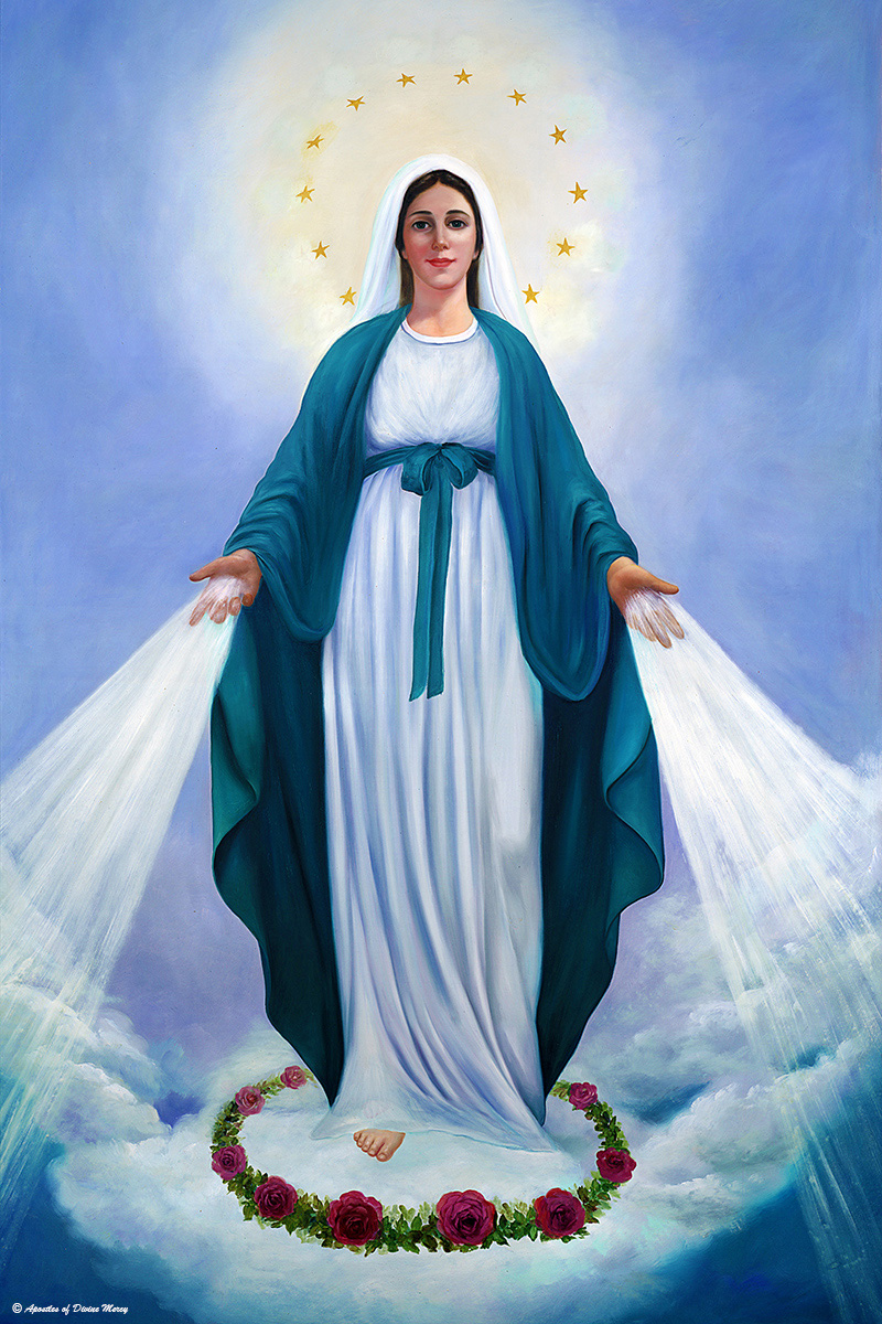 A high quality Our Lady of Divine Mercy image