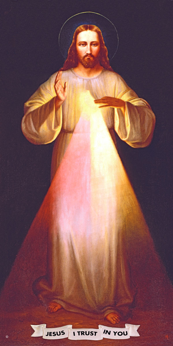 A high quality Shrine Divine Mercy picture.