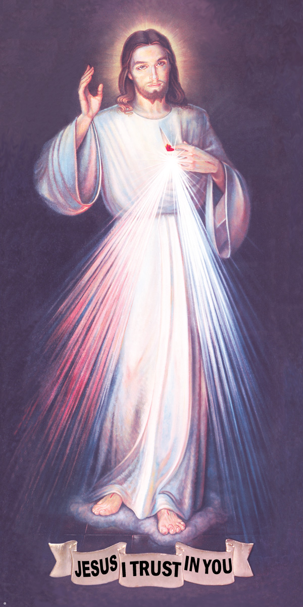 A high quality Nun's Divine Mercy picture